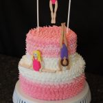 Gymnastics Birthday Cake Gymnastics Cake For Lexies 6th Birthday Two Tier Cake Piped In