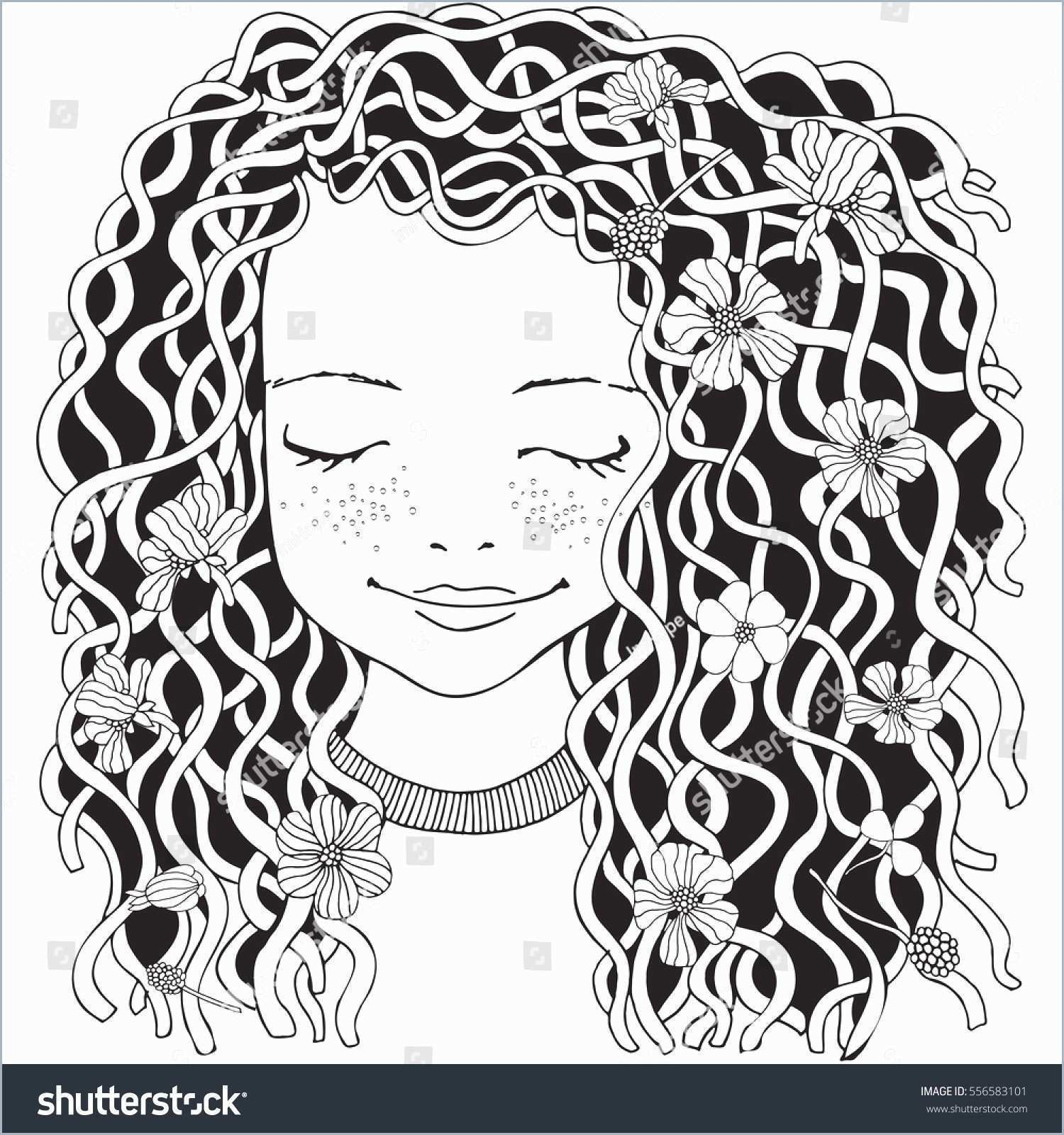 Hair Coloring Pages Girl With Long Hair Coloring Pages Good Cute