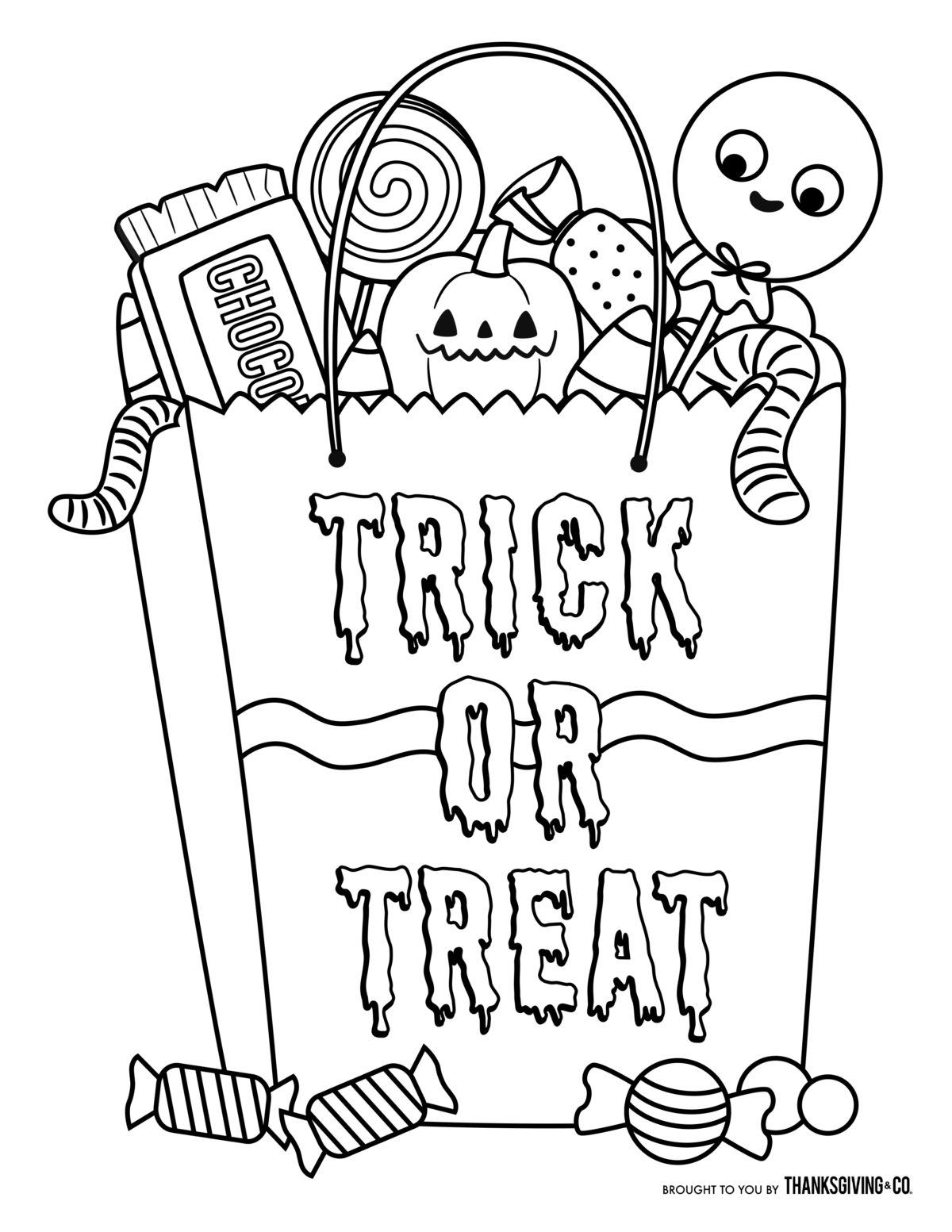 21+ Elegant Picture of Halloween Coloring Pages For Kids