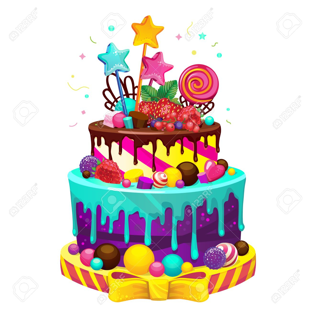 Happy Birthday Cakes Pictures Happy Birthday Cake Bright Vector Isolated Illustration Of A