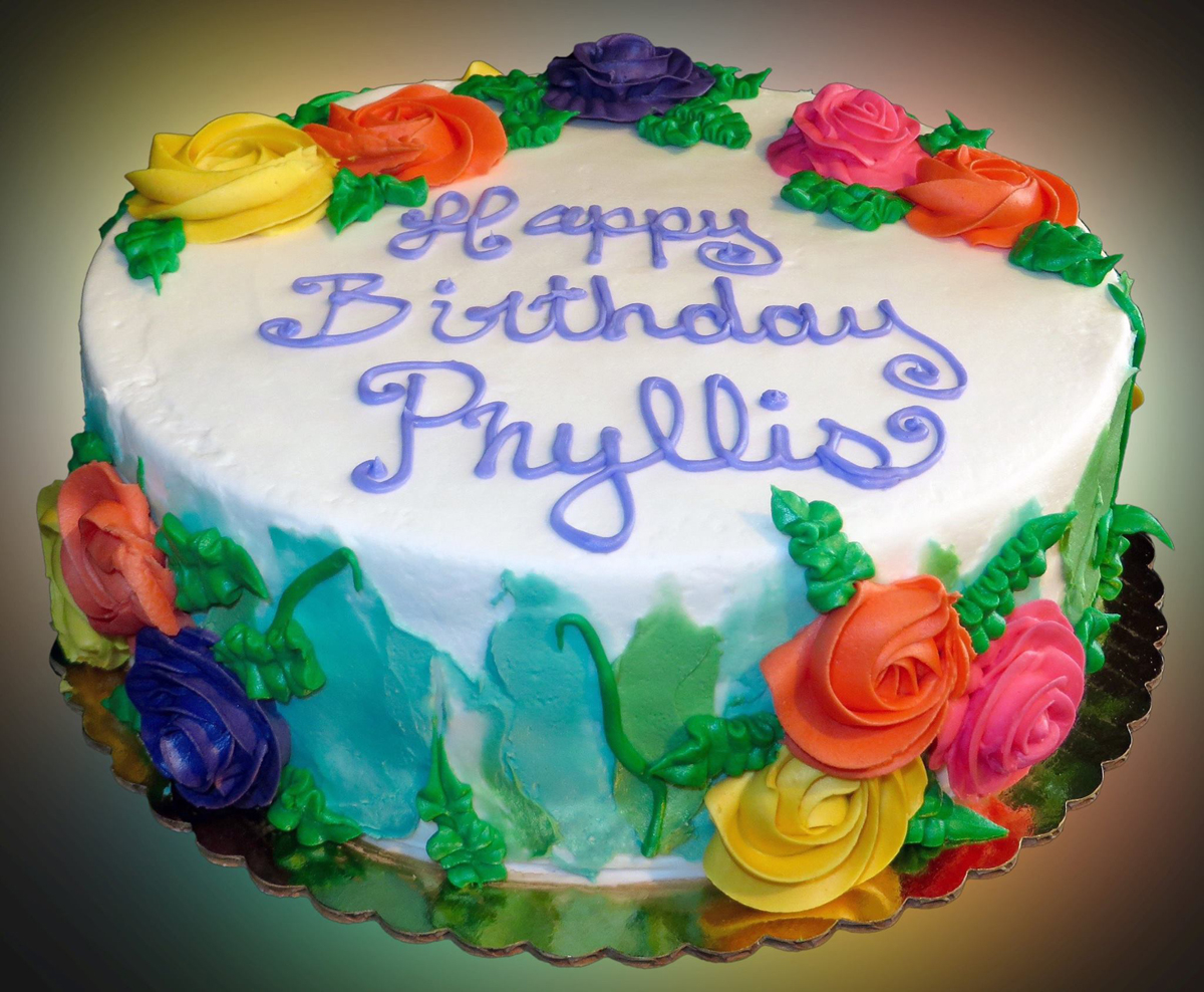 Happy Birthday Cakes Pictures Happy Birthday Cake For Phyllis Sweet Somethings Desserts
