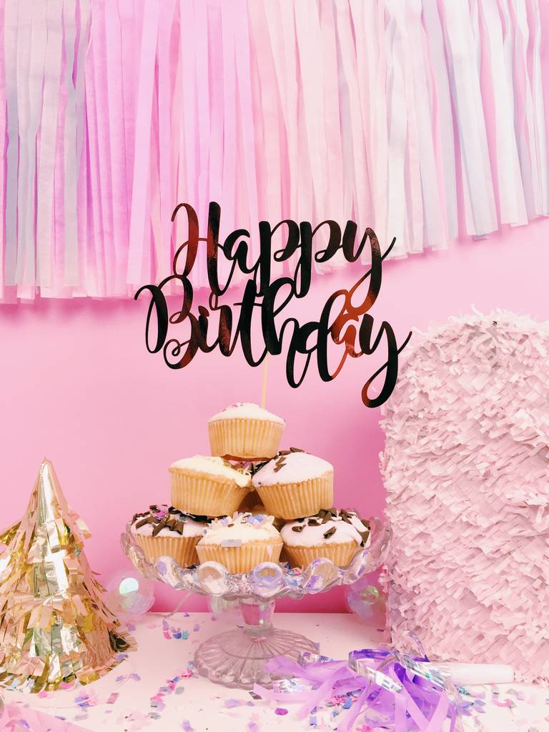 Happy Birthday Cakes Pictures Happy Birthday Cake Topper All Her Glory Notonthehighstreet