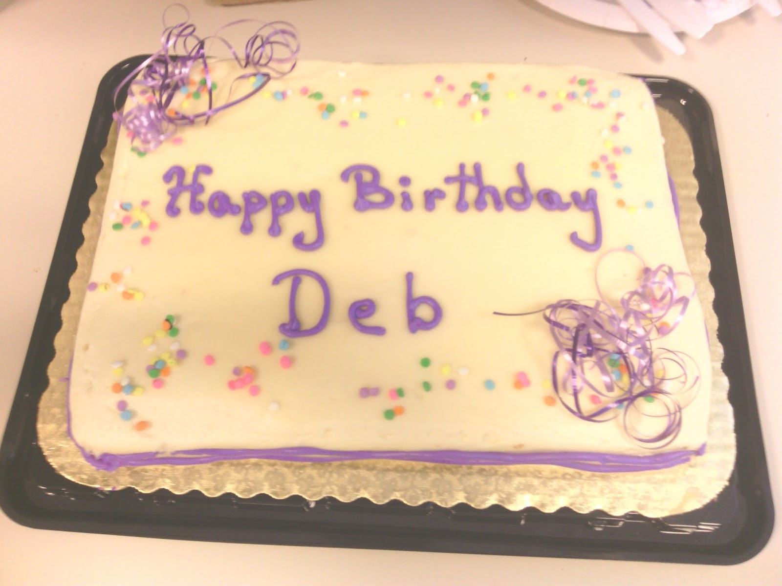 Happy Birthday Debbie Cake Happy Birthday Deb Banta Crosswalk Community Church