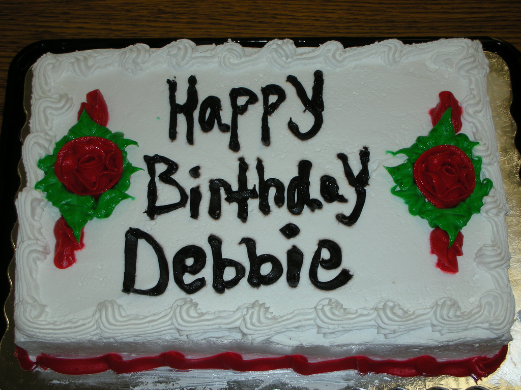 Happy Birthday Debbie Cake Happy Birthday Debbie We Hope You Enjoyed Your Birthday Flickr