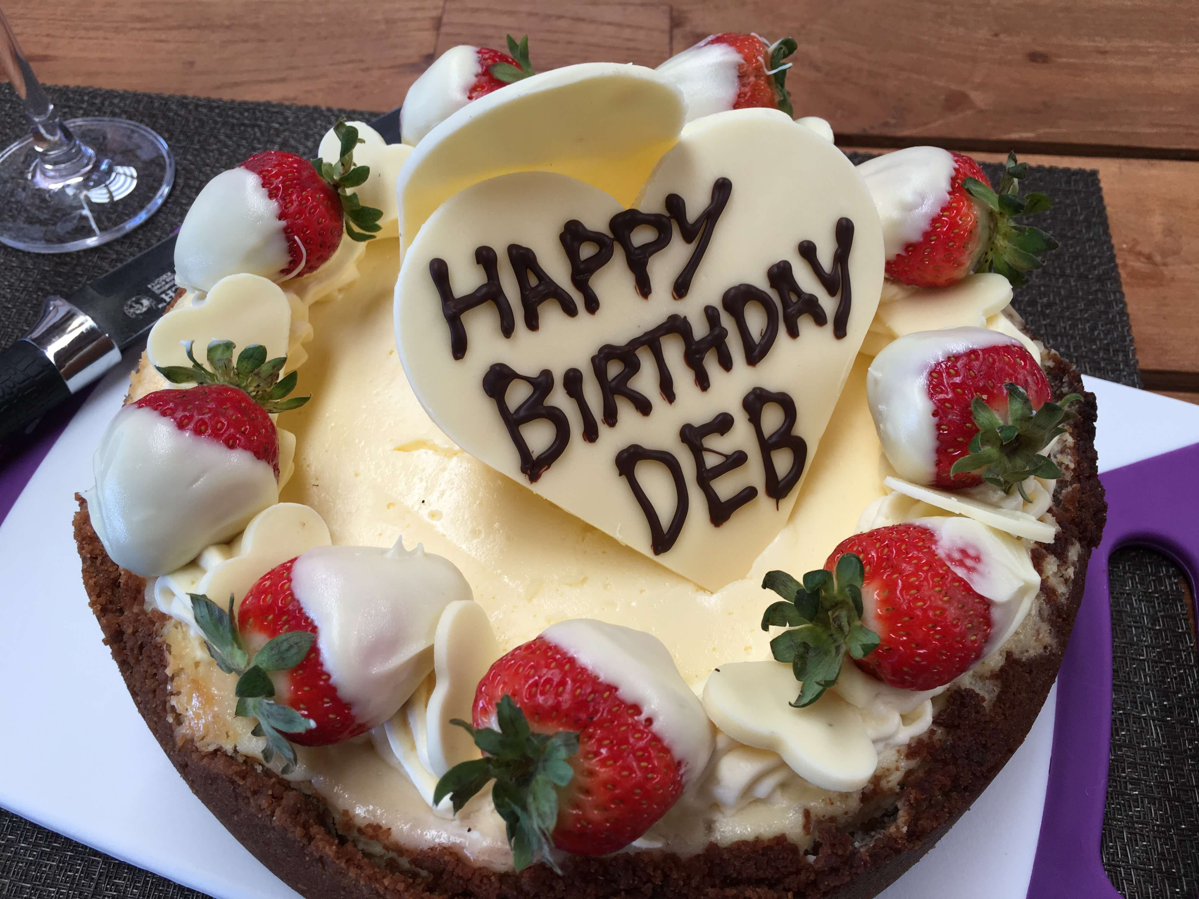 Happy Birthday Debbie Cake Special Occasion Cakes Ningaloo Bake House