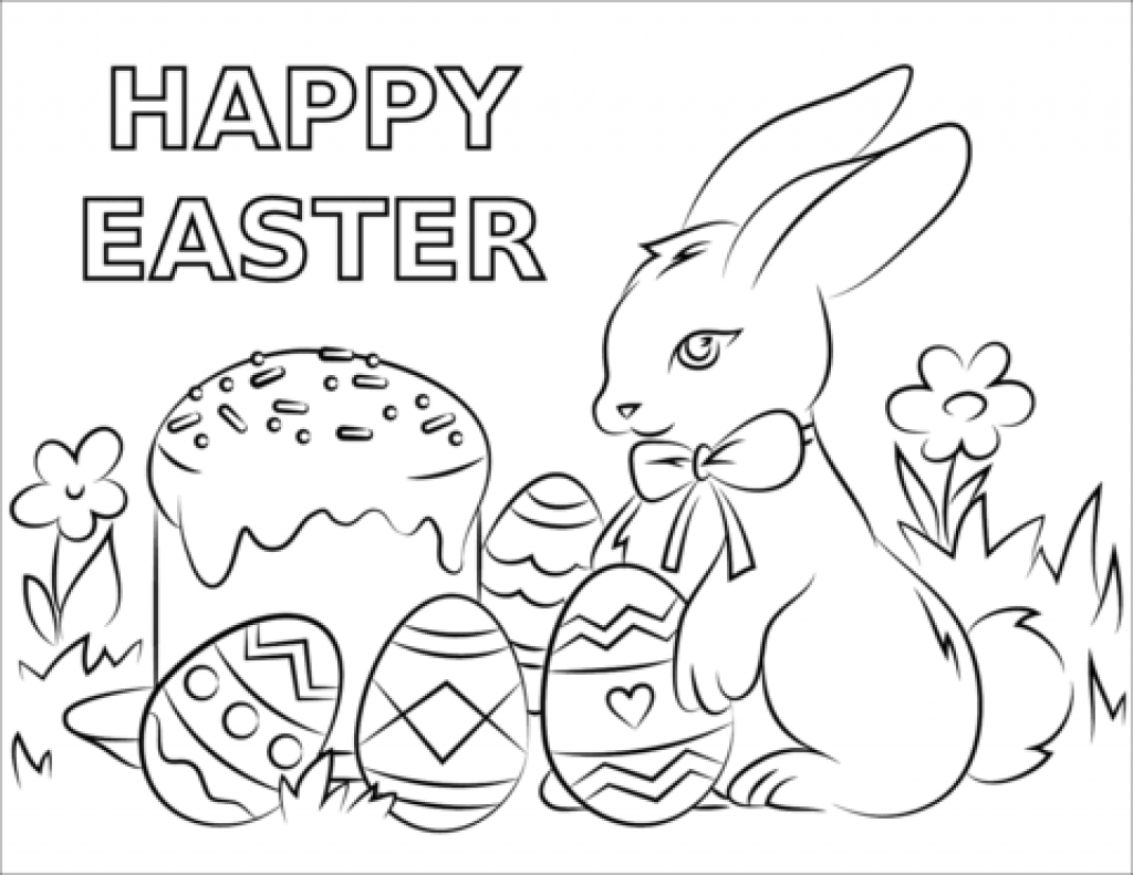 25+ Pretty Picture of Happy Easter Coloring Pages
