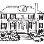 Haunted House Coloring Pages Coloring Page Big Haunted House Coloring Page Home Large And Pages
