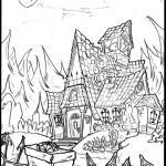 Haunted House Coloring Pages Coloring Pages Astonishing Haunted House Coloring Book Artz