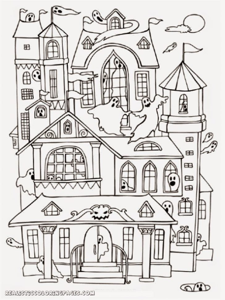 Haunted House Coloring Pages Coloring Pages Halloween Haunted Houseloring Pages Download Book