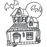 Haunted House Coloring Pages Free Halloween Haunted House Coloring Pages At Getdrawings