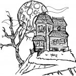 Haunted House Coloring Pages Free Printable Haunted House Coloring Pages For Kids