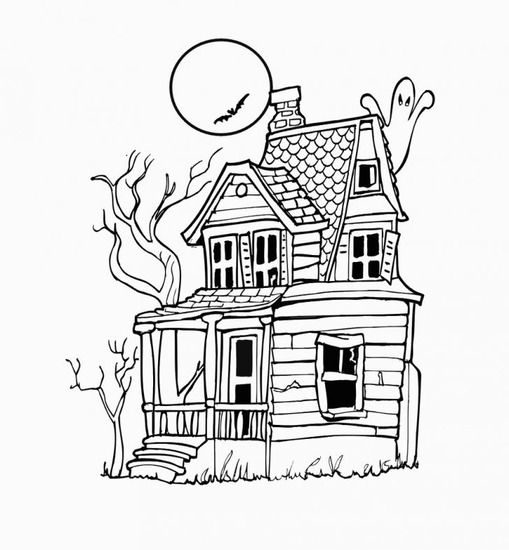 Haunted House Coloring Pages Free Printable Haunted House Coloring Pages For Kids For Haunted