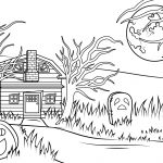 Haunted House Coloring Pages Halloween Haunted House Coloring Page Free Printable Coloring Pages