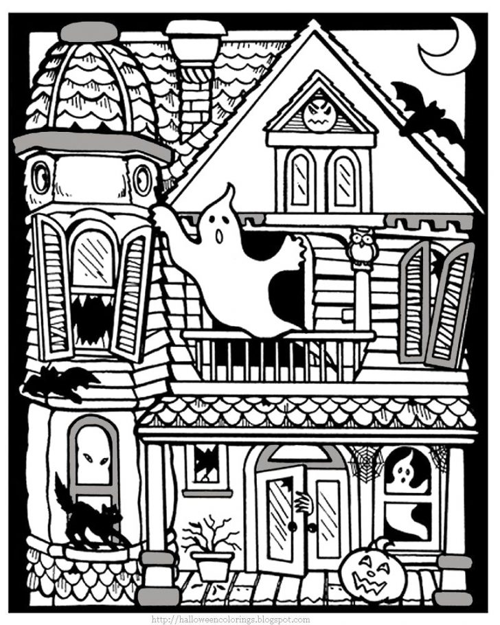 Haunted House Coloring Pages Halloween Haunted House Coloring Pages Thanhhoacar