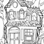 Haunted House Coloring Pages Haunted House Color Page Free Printable Halloween Coloring Pages 800