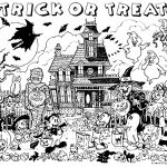 Haunted House Coloring Pages Haunted House Coloring Page Halloween Haunted House Trick Or Treat