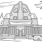 Haunted House Coloring Pages Haunted House Coloring Pages Scary Page Free Printable 15001060