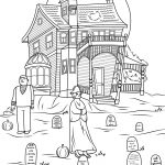 Haunted House Coloring Pages Haunted House Coloring Pages Spooky Photo Jon Seidman Page Free