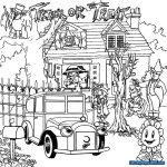 Haunted House Coloring Pages Haunted Houses Coloring Pages Wuming
