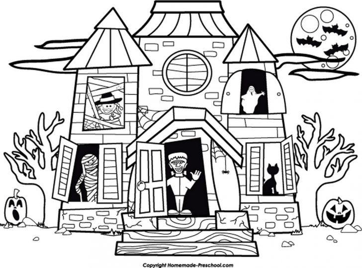 Haunted House Coloring Pages Preschool Haunted House Coloring Page 2019 Open Coloring Pages
