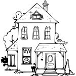 Haunted House Coloring Pages Wonderful Haunted House Coloring Pages Free Printable Halloween