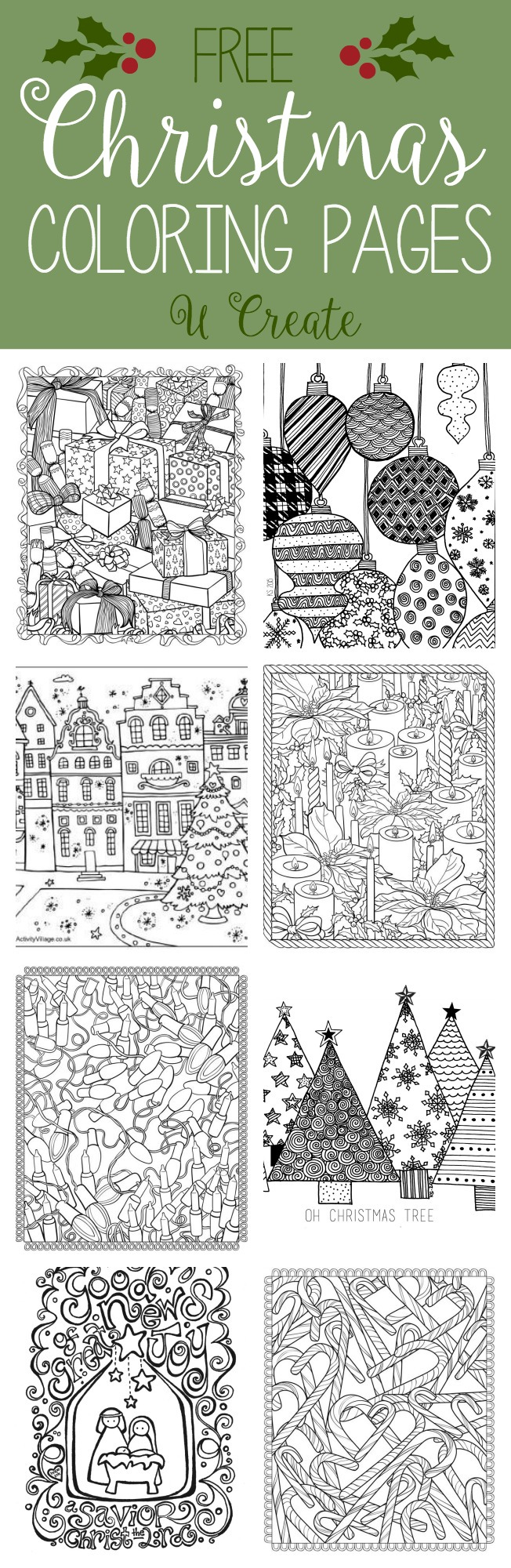 Creative Photo of Holiday Coloring Pages For Adults