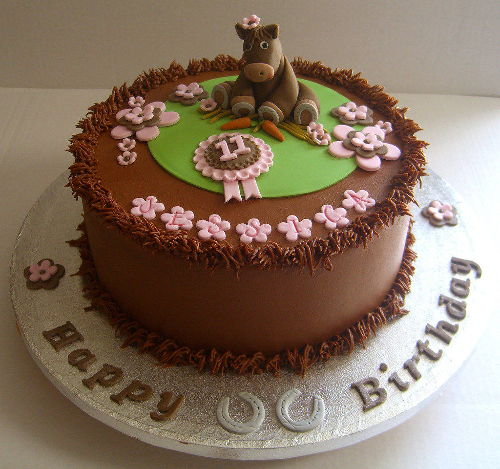 Horse Birthday Cakes Horse Themed Birthday Cake 9 Inch Chocolate Cake With Hand Flickr