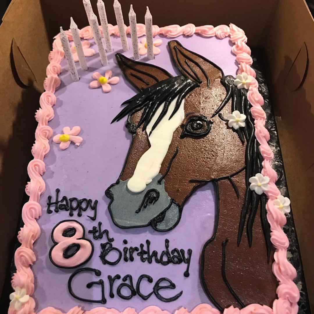 Horse Birthday Cakes Mark Wahlbergs Daughter Grace Celebrates 8th Birthday People
