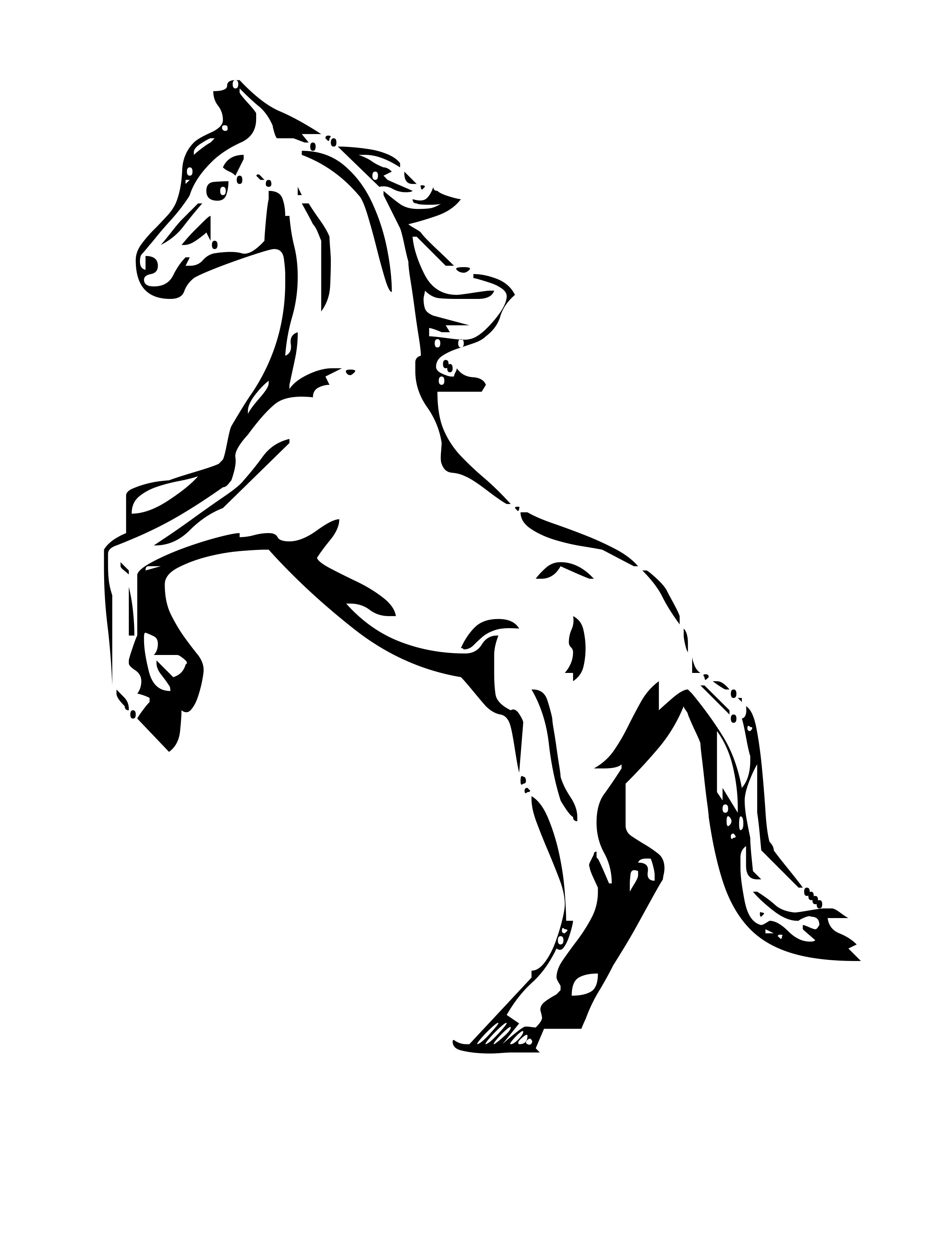 Horse Coloring Page Free Horse Coloring Pages