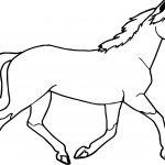 Horse Coloring Page Jogging Arabian Horse Coloring Page Wecoloringpage