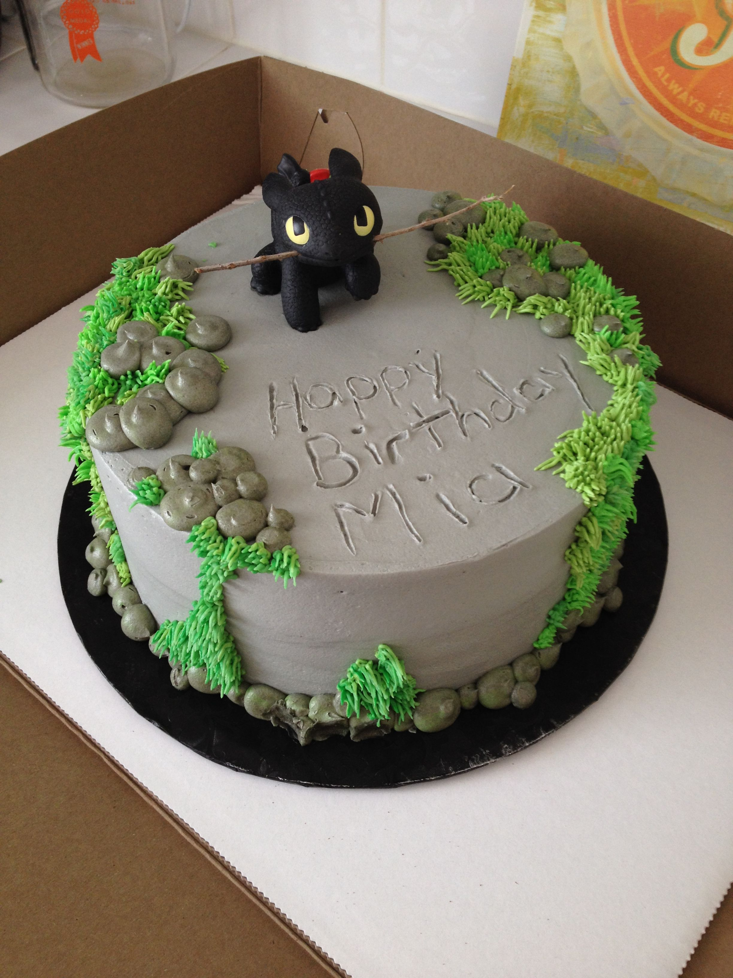 How To Train Your Dragon Birthday Cake This Would Be Easy To Do With Any Toy Theme How To Train Your
