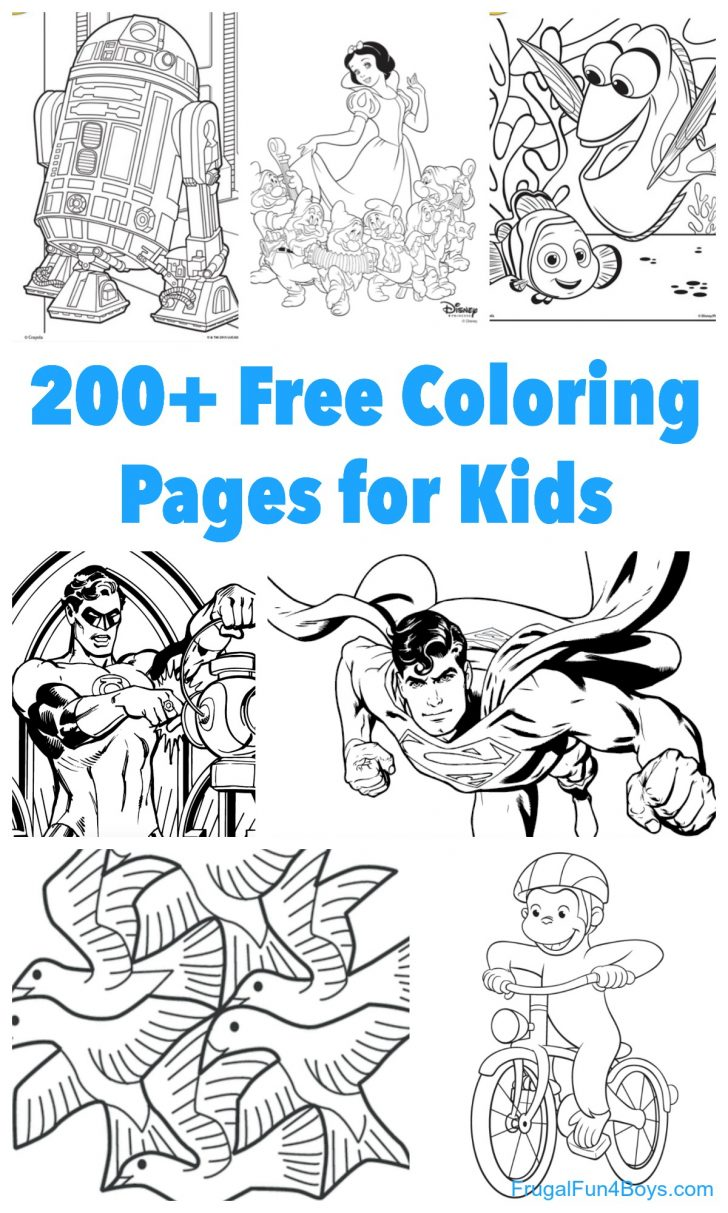 Images Of Coloring Pages 200 Printable Coloring Pages For Kids Frugal Fun For Boys And Girls