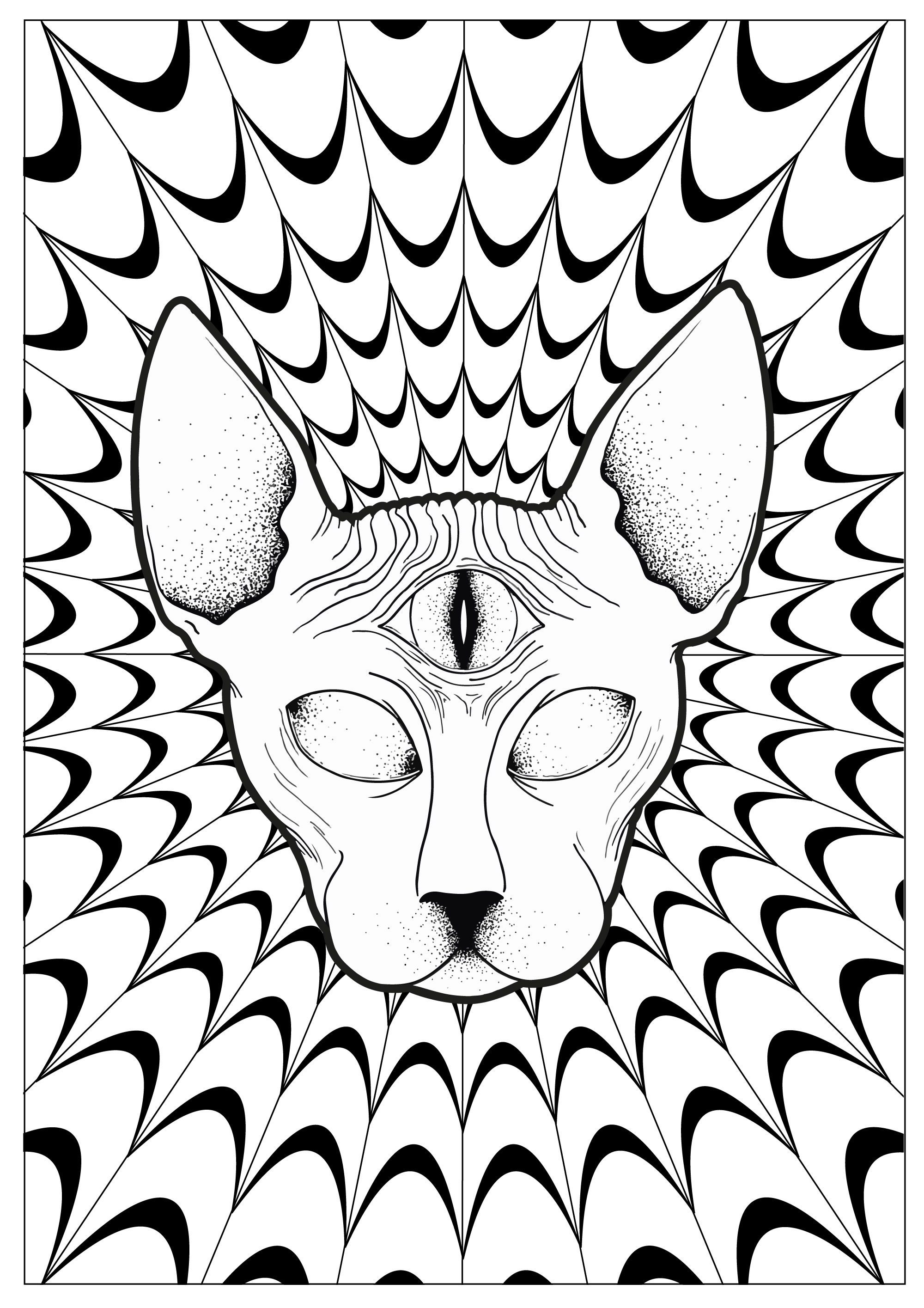 Images Of Coloring Pages Psychedelic Coloring Pages For Adults