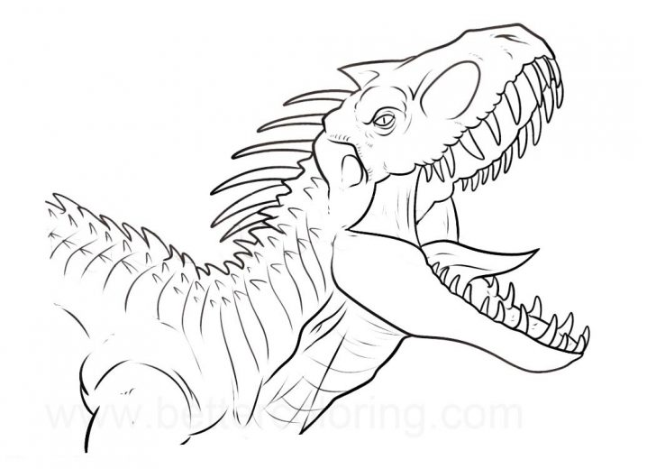 Jurassic World Coloring Pages 1533262409 Indominus Rex Jurassic Indoraptor Coloring Pages