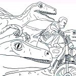 Jurassic World Coloring Pages Drawing And Coloring Jurrasic World Raptor And Motorbike Dinosaurs