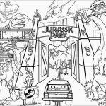 Jurassic World Coloring Pages Jurassic Park Gate Coloring Pages Coloringbay