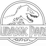Jurassic World Coloring Pages Jurassic Park Logo Coloring Page Free Printable Coloring Pages