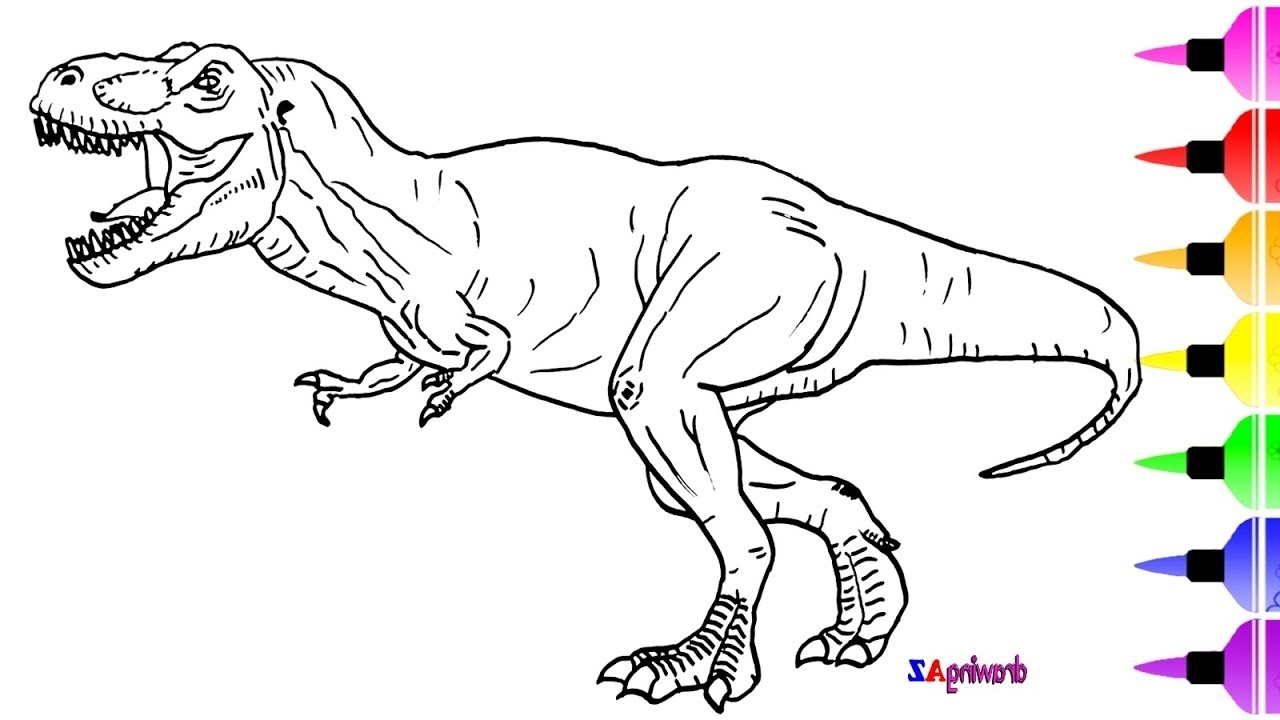 Jurassic World Coloring Pages Jurassic World Coloring Pages Aq1h How To Draw A Dinosaur From