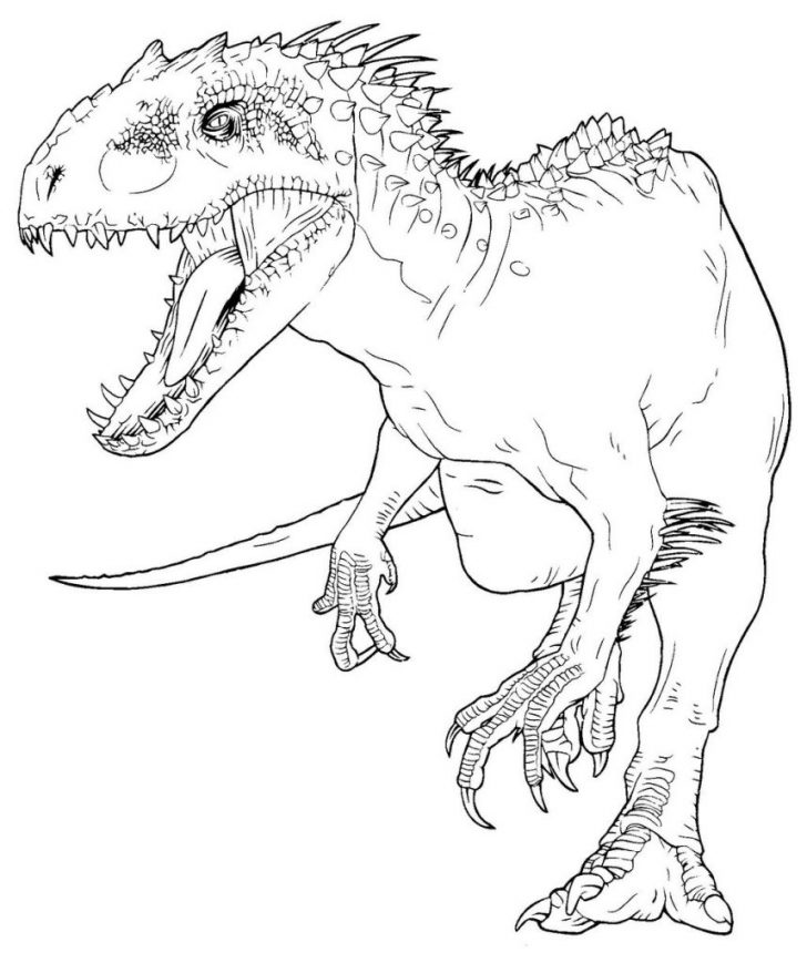 Jurassic World Coloring Pages Suddenly Indominus Rex Coloring Page Imagination Jurassic World