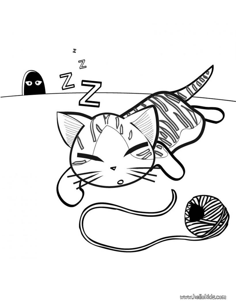 Kittens Coloring Pages Cute Kitten Coloring Pages Hellokids