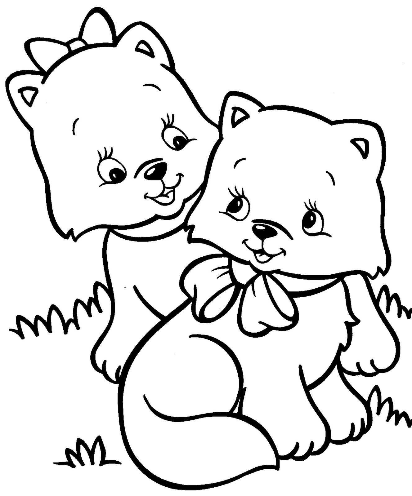 Kittens Coloring Pages Kitten Coloring Pages Best Coloring Pages For Kids