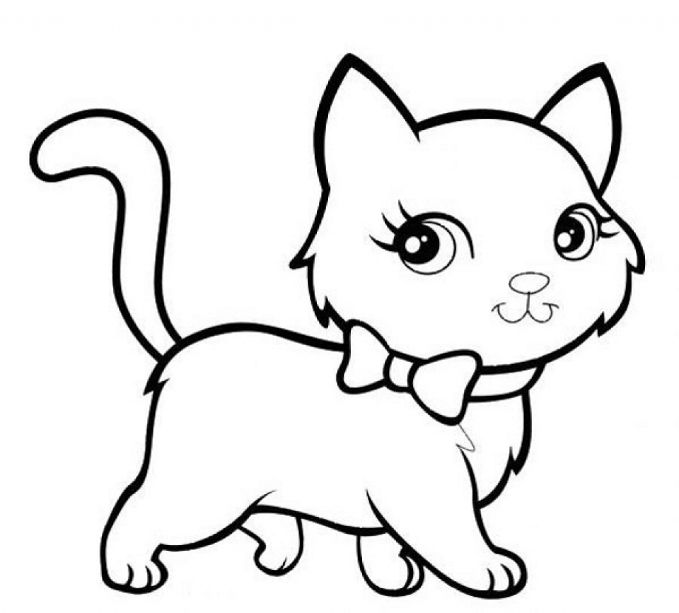 Kittens Coloring Pages Kitten Coloring Pages Free Download Best Kitten Coloring Pages On
