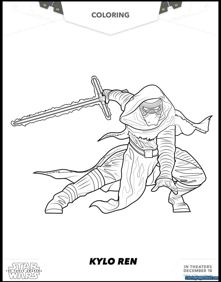 Kylo Ren Coloring Page Kylo Ren Coloring Page 8 Star Wars E1459810273572 1024791 Pages Of