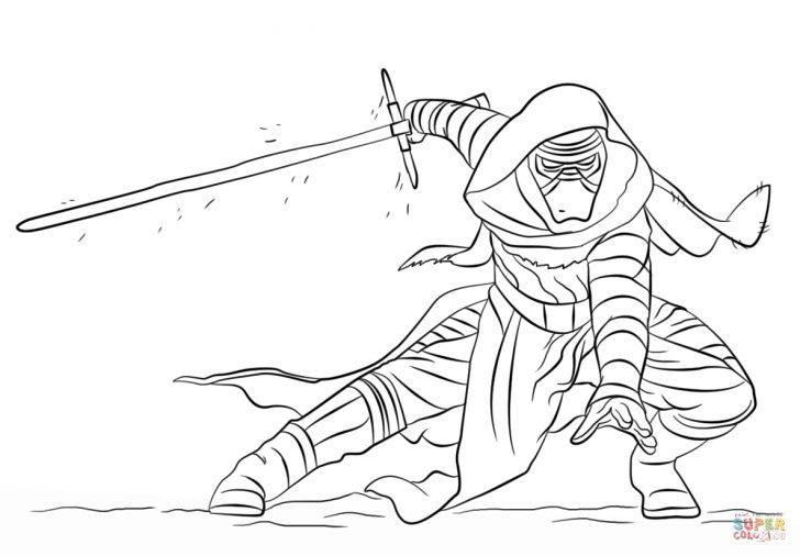 Kylo Ren Coloring Page Kylo Ren Coloring Page Free Printable Coloring Pages
