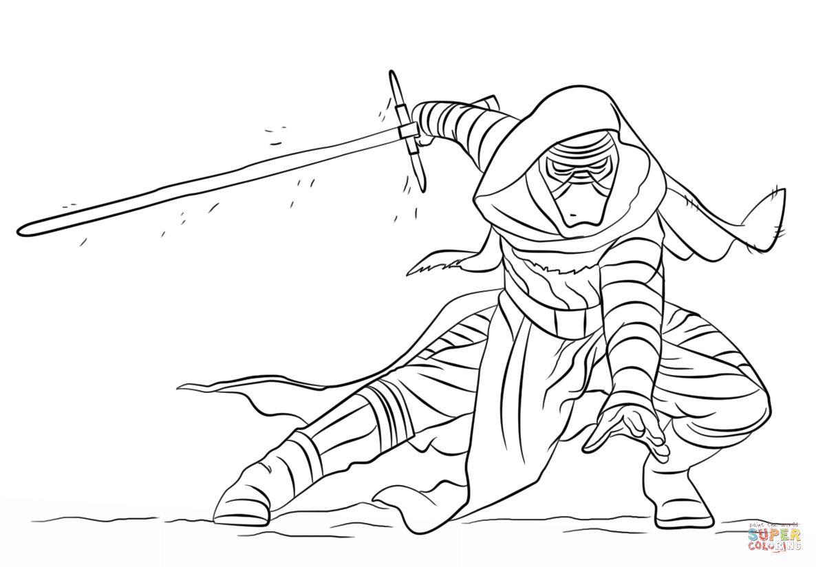 Great Image of Kylo Ren Coloring Page