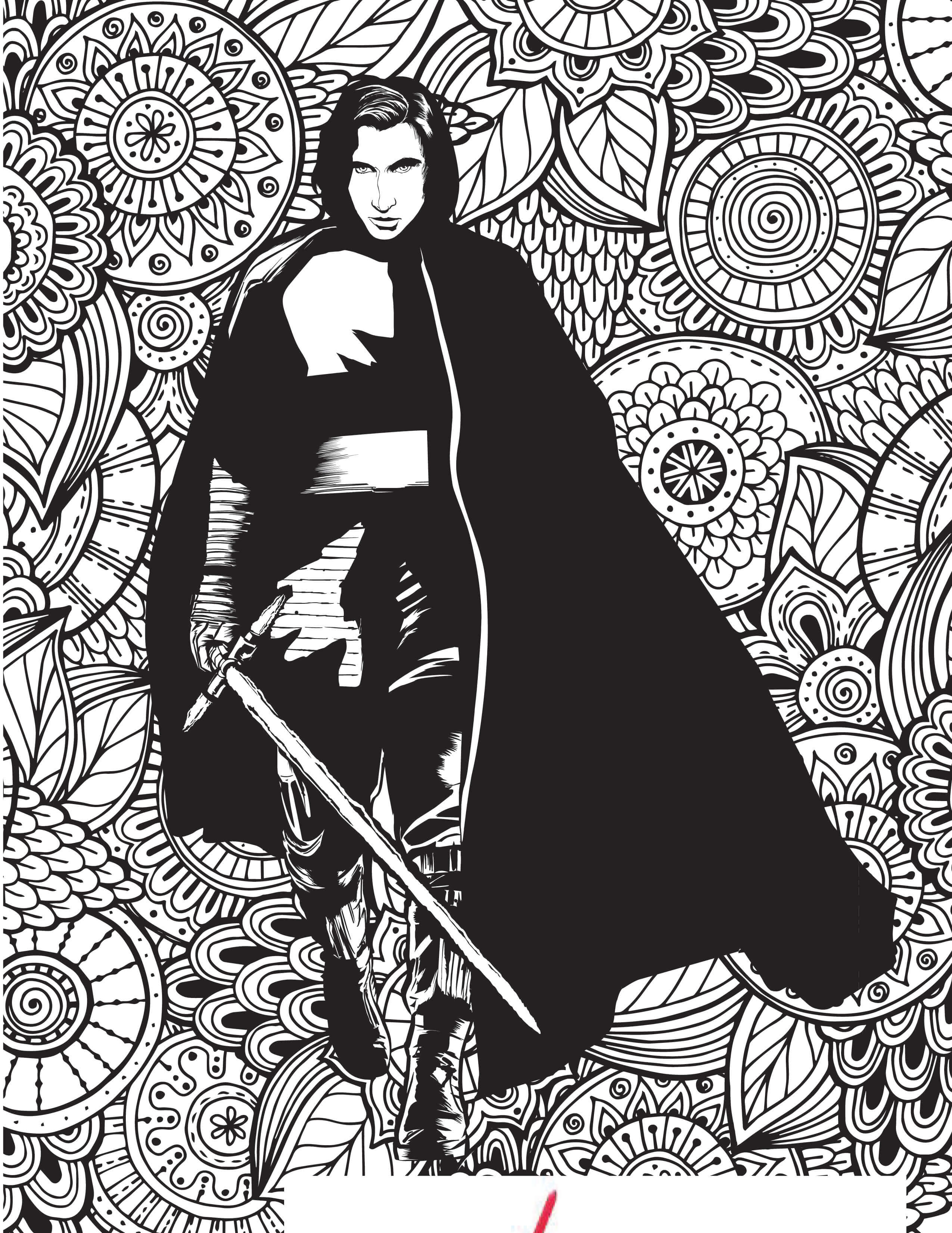 Kylo Ren Coloring Page Kylo Ren Coloring Pages Free Star Wars Costume Supercenter Blog 2550