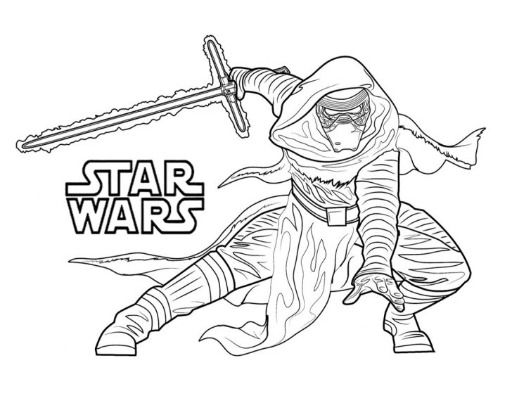 Kylo Ren Coloring Page Star Wars Kylo Ren Coloring Pages
