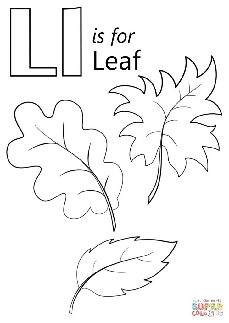Leaf Coloring Page Letter L Is For Leaf Coloring Page Within Leaves Pages Coloring