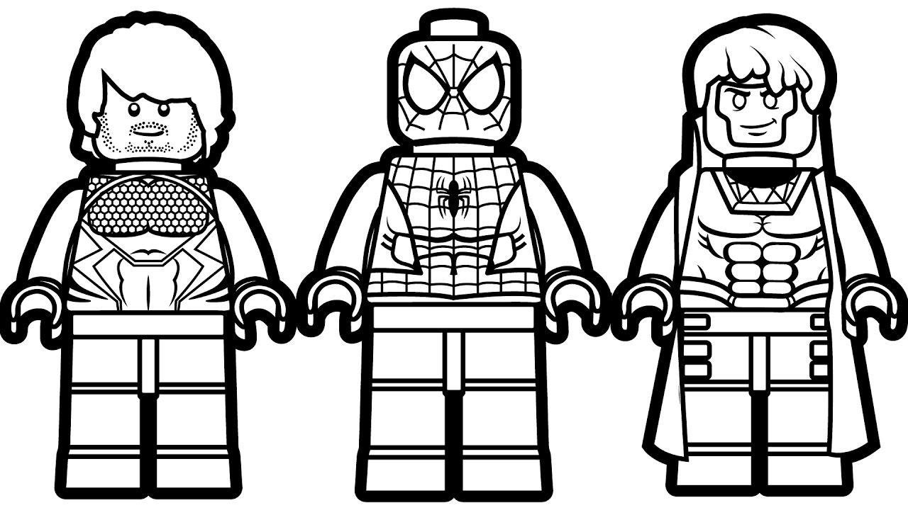 Lego Spiderman Coloring Pages Impressive Lego Spiderman Coloring Pages Kids Page