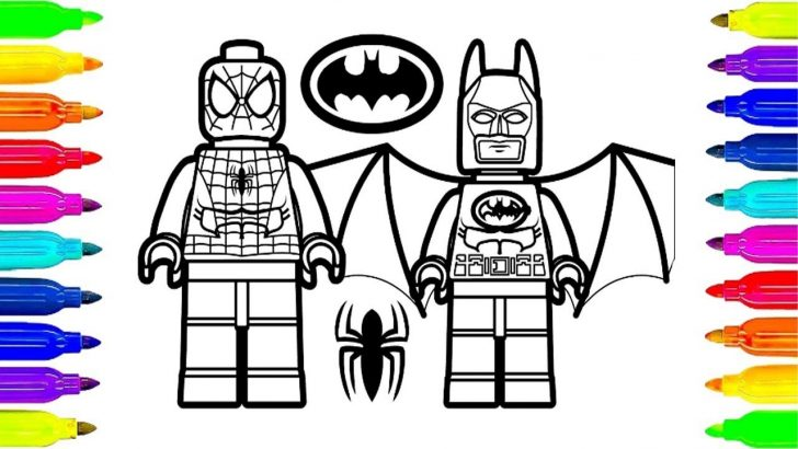 Lego Spiderman Coloring Pages Lego Spiderman And Lego Batman Coloring Pages For Kids To Learning